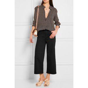 J. CREW Rayner Wide Leg High Rise Crop Jeans